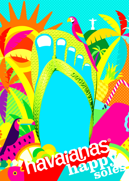 havaianas Happy Soles Goes to Brazil